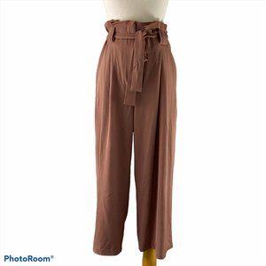 DYNAMITE Mauve Flow Pants With Tie